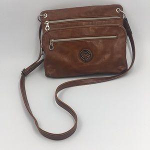 "Relic ""Erica"" Brown Crossbody Bag"